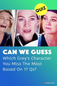 Fun trivia quiz on why Meredith Grey is crying on Shonda Rhimes' ABC Grey's Anatomy show, with moments like Derek's death and the patient beating her. #greys #GreysAnatomy #greysquiz #greysnostalgia #greysAnatomyTrivia #mcdreamy #izziestevens #greystragedies #greysdeath #greysanatomyscene #meredithgreycrying #meredithcrying Izzie Stevens, Callie Torres, Greys Anatomy Facts, Arizona Robbins, Derek Shepherd, Cristina Yang, Trivia Quiz, Meredith Grey, Quizzes