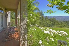Front porch views from Napa Valley Estate. Additional photos and information at http://naparealestatematch.com/listing/1819-foothill-blvd-calistoga-ca/