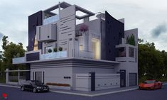 House top 03 / Top house of this week Architecture Plan, Residential Architecture, Facade Design, Exterior Design, Casa Top, Modern Villa Design, Modern Properties, Two Storey House, House Elevation