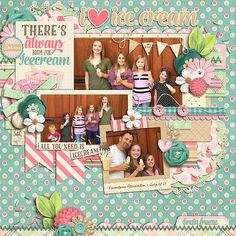 Credits: Icecream Parlor Bundle by Amber Shaw & Digilicious Design Cindy's Layered Templates - Trio Pack 17 by Cindy Schneider