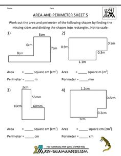 Worksheet Perimeter And Area Worksheets geometry the ojays and math on pinterest