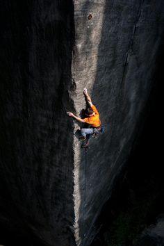 Perla 8a, Egon in Teplické skály CZ, Amazing arret climb. Photo: Helmut Schulze