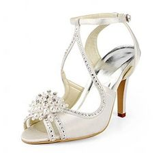 Wedding Shoes - $68.99 - Women's Stiletto Heel Sandals With Beading Imitation Pearl Rhinestone  http://www.dressfirst.com/Women-S-Stiletto-Heel-Sandals-With-Beading-Imitation-Pearl-Rhinestone-047020190-g20190
