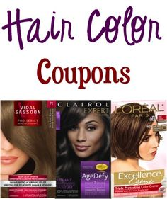 Hair Color Coupons: $2.00 off 1 L'Oreal, Clairol, or Vidal Sassoon!