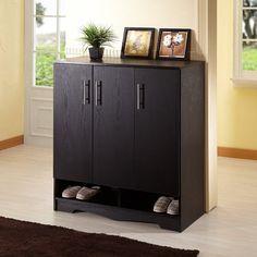 Have to have it. Fiona Contemporary Shoe Cabinet - Black - $195.3 @hayneedle