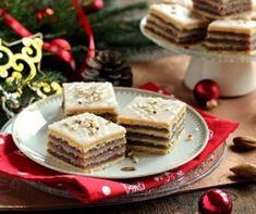 karácsonyi menü   Mindmegette.hu Cake Bars, Vanilla Cake, Tiramisu, Sweet Treats, Pie, Sweets, Cheese, Plates, Cookies
