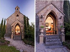It is an old, sandstone church, one of the two nineteenth century churches in Houghton that was completed in 1877 and became a landmark for the local community.In 1977 it was converted into a family home. It has 2355 square meters of land and it is surrounded by a wonderful landscape.