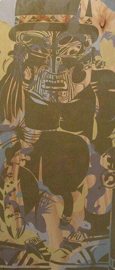 Artist: Reweti Arapere Te kai ra mua a mata year: 2010 size: 1820 x 800 x 10 mm media: acrylic and aerosol on plywood Maori Designs, New Zealand Art, Nz Art, Madhubani Art, Maori Art, Kiwiana, Art Series, Doodle Art, Abstract