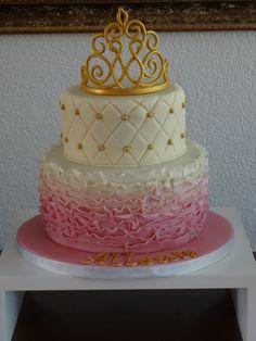 Princess Cake - Princes Crown Ruffle Cake
