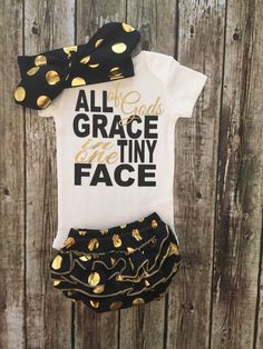 All GOD'S Grace In One Tiny Face Religious Baby Onesies - BellaPiccoli