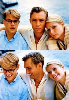 Matt Damon, Jude Law & Gwyneth Paltrow - 'The Talented Mr. Ripley' god matt damon why why x Jude Law, Le Talentueux Mr Ripley, Jean Sorel, Pretty People, Beautiful People, Movie Stars, Movie Tv, Bon Film, Actrices Hollywood