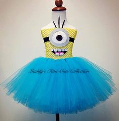 Cookie Monster Tutu Dress with headband Sizes by MTCCollection