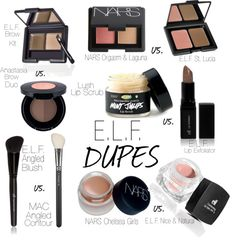E.L.F. Dupes for High End Products  I have lots and lots of this brand in my make up bag! It is fabulous to use and at under five dollars a pop, you can afford to have lots and lots to play with! Love this stuff!