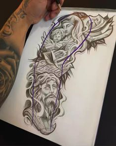 Chicano Tattoos Sleeve, Chicano Style Tattoo, Forarm Tattoos, Dope Tattoos, Full Sleeve Tattoos, Tattoo Sleeve Designs, Body Art Tattoos, Tattoos For Guys, Angel Sleeve Tattoo