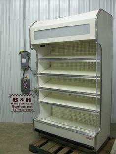 "Barker 47"" Open Air Refrigerated 4' Multi Deck Grocery Display Case Cooler 