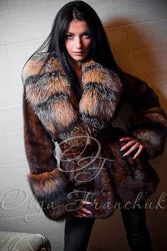 awesome mink & fox fur jacket