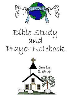 Bible Study and Prayer Notebook