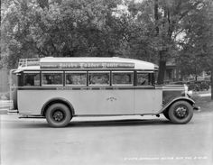 ACF BUS COACH - JACOB'S LADDER ROUTE Springfield Pittsfield 1930 8x10 Negative
