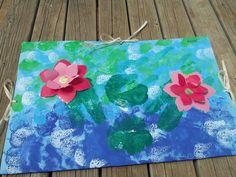 Tapa de flors i estampació amb esponges...