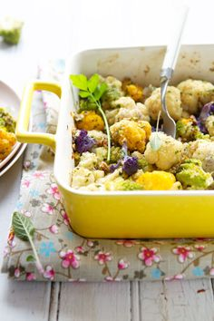 ✓ Made this - omg so good! (I didn't use the creme, and used feta instead of manchego, and almonds instead of pecans - yummm) This beautiful cauliflower gratin dish combines colorful cauliflower, fresh herbs, ground nuts and just a touch of creamy cheese.
