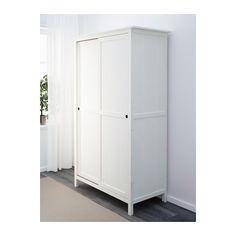 HEMNES Garderobekast 2 schuifdeuren - witgebeitst - IKEA
