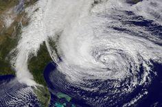 Satellite Image of Hurricane Sandy off the East Coast on 10/28/12 by NASA via npr #Hurricane_Sandy