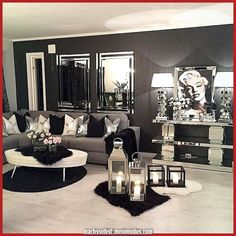 Having small living room can be one of all your problem about decoration home. To solve that, you will create the illusion of a larger space and painting your small living room with bright colors c… Glam Living Room, Living Room Decor Cozy, Living Room Furniture, Bedroom Decor, Rustic Furniture, Glam Room, Decor Room, Antique Furniture, Living Area