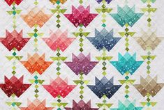 We are so excited to introduce our newest Ombre for Moda Fabrics ! Introducing OMBRE BLOOM The newest ombre to come to the V and . Colorful Quilts, Small Quilts, Quilting Projects, Quilting Designs, Ombre Fabric, Summer Quilts, Bloom, Scrappy Quilts, Jellyroll Quilts
