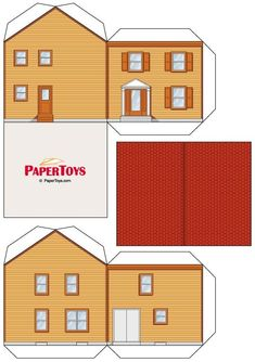 1 million+ Stunning Free Images to Use Anywhere Paper Doll House, Paper Houses, Cardboard Toys, Paper Toys, Diy Paper, Paper Crafts, House Template, Diy Casa, Toy House