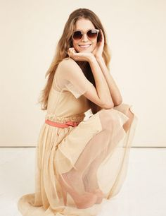 great dress.  adorable shades.