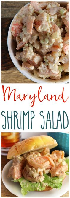 Maryland Shrimp Salad – The Shirley Journey Summer is perfect for sitting on the deck, enjoying a sandwich, and a cold iced tea. Our Maryland-Style Shrimp Salad is a super yummy, yet incredibly easy- way to fancy up your sandwich! Fish Recipes, Seafood Recipes, Great Recipes, Dinner Recipes, Cooking Recipes, Healthy Recipes, Soup Recipes, Shrimp Dishes, Fish Dishes