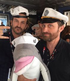 Supernatural: Richard Speight Jr. and Rob Benedict  at San Diego Comic Con 2016 (SDCC) (photo via Supernatural's Instagram)