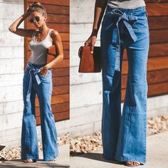 Buy Custom Fashion For Your Outfit of the Day with The Best Quality Secure paym Flare Jeans Outfit, Jeans Outfit Summer, Trouser Jeans Outfit, Jeans And T Shirt Outfit, Outfit Winter, Outfits Casual, Cute Outfits, Fashion Outfits, Jeans Fashion