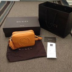 NWT Gucci bag for madiha This AMAZING best seller bag at Gucci store retails for 998$ plus tax new , tissue paper still inside , comes with price tag , receipt from saks , box , dust bag , shopping bag , wonderful Christmas gift , LOWER on Ⓜ️ er ca ri  Gucci Bags Crossbody Bags