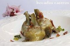 Bocados Caseros: Alcachofas confitadas con virutas de jamón