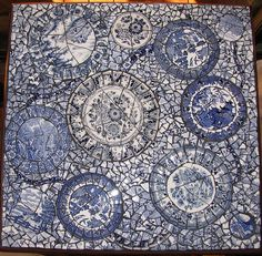 blue and white mosaic | Recent Photos The Commons Getty Collection Galleries World Map App ...