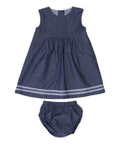 Love this Chambray Pinafore Dress & Diaper Cover - Infant & Toddler by JoJo Maman Bébé on #zulily! #zulilyfinds