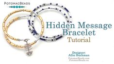 Hidden Message (Morse Code) Bracelet – Jewelry Making Tutorial by Potomac Beads …, … - jewelry diy bracelets Diy Bracelets Video, Beaded Bracelets Tutorial, Memory Wire Bracelets, Jewelry Making Tutorials, Jewelry Making Beads, Jewelry Making Supplies, Diy Jewelry, Beaded Jewellery, Beading Tutorials