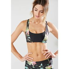 Forever 21 Women's  Stone Fox Sweat Jett Sports Bra ($88) ❤ liked on Polyvore featuring activewear, sports bras, forever 21, forever 21 sports bra, seamless sports bra, cross back sports bra and forever 21 activewear
