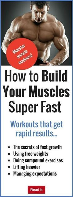 Who the heck wants to build muscle slowly? Discover the secrets of piling on pounds of extra muscle through correct workouts and exercise.