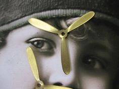 Raw Brass Large Propellers Great For by dimestoreemporium on Etsy