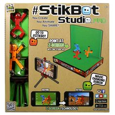 You create. You animate. You SHARE! Stikbot is the social-sharing, easy to pose figurine! Standing 3-inches tall, Stikbot's suction cup-tipped limbs will adhere to almost any flat surface allowing for