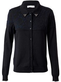 PIECE D ANARCHIVE Floral Jacquard Wool Cardigan
