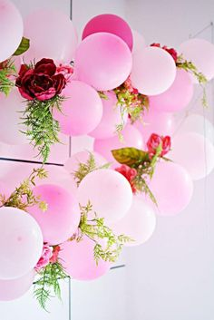 DIY Balloon Arch Kit // Magenta Pink Arch // Stagette Decor // Wedding Balloon Garland // Baby Shower // Party Decor // Birthday - Decoration For Home Balloon Flowers, Balloon Arch, Balloon Garland, Balloon Decorations, Baby Balloon, Balloon Birthday, Balloon Wall, Faux Flowers, Diy Flowers