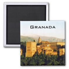 allambra granada view refrigerator magnets #spain