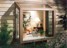 This is a really cool window. I like how it is a box on the outside of the house. It so cool that its pretty much made all of glass. It would be a great way to keep an eye on kids in the yard.