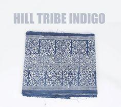 Hmong Hill Tribe Indigo Batik Fabric / Hill Tribe Fabric by YardiesFabric  #hmong #hmongfabric #hilltribe #hilltribefabric #indigo #indigofabric #batik #batikfabric #ethnicfabric #ethnictextile #handwoven #handspun #yardiesfabric #bytheyard #etsy #etsyfinds #etsyfabric