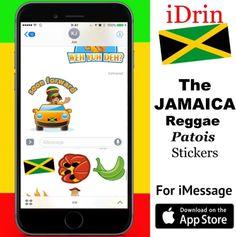 iDRIN #reggae #emoji  #teggseemoji #jamaica #patois #iphone8