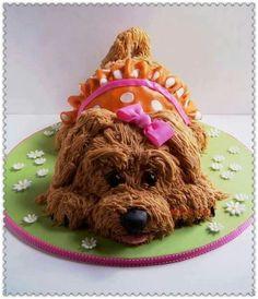 dog shaped cake