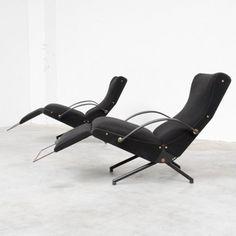 P40 1st edition Lounge Chair by Osvaldo Borsani for Tecno